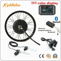 Wholesale 72v 5000W Electric Bike Kit Brushless Gearless Hub Motor With Batteries / TFT Color Display from china suppliers