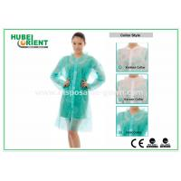 Wholesale PP & MP & TVK Disposable Laboratory Coats With Velcro And Shirt Collar from china suppliers
