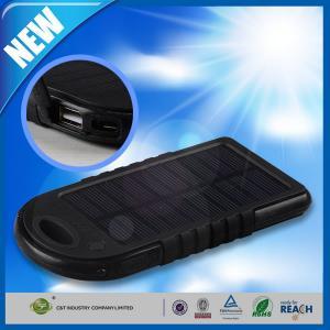 Wholesale Dual USB Port Backup Power Bank , 5000mAh Solar Panel Backup External Battery from china suppliers