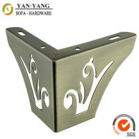 Wholesale 55mm high bronze furniture legs hollow out metal corner sofa legs SL-097 from china suppliers