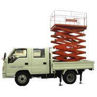 Wholesale 3.5 tons Four automatic Vehicle Mounted Scissor Lift  with 90 km/h Max drive speed from china suppliers