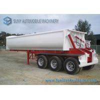 Wholesale 24 Cubic ADR Standards 3 Axles Side Tipper Semi Trailer 40 T from china suppliers