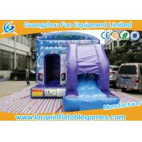 Wholesale House Jumping Inflatable Bouncy Castle with PVC material In Blue from china suppliers