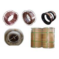 Quality ER49-1 Si - Mn alloy G70 gas shield Flux Cored Welding Wire / copper coated for sale