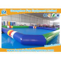 Wholesale 0.9 Mm Pvc Tarpaulin Blue / Green Inflatable Swimming Pools Portable Above Ground from china suppliers
