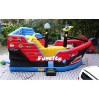 Wholesale Kid Attractive Inflatable Combo Bouncers Pirate Ship Bouncer For Amusement Park from china suppliers