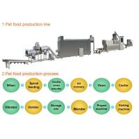 China Industrial Automated Pet Food Extruder Machine Siemens PLC & Touch Screen Controlled on sale