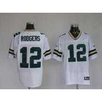 Wholesale Green pay Rodgers # 12 white/ green jersey from china suppliers