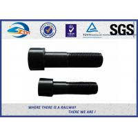 Wholesale High Hardness Oxide Black Oval Head Steel Rail Bolt 5.6 Grade For Railway from china suppliers