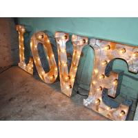"Wholesale Custom LED Lighted Love Letters Vintage Movie Marquee Letters 17"" / 43cm from china suppliers"