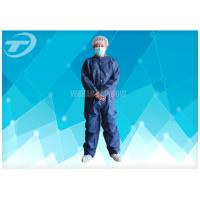 China PE Coated White Disposable Coverall Suit / Disposable Protective Suits For Men S To 5XL on sale