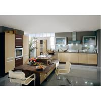 Wholesale Commercial Yellow Pvc Kitchen Cabinets With Island Bench L Shape Integrated Kitchen from china suppliers
