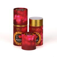 Wholesale Red Color Print Custom Paper Cylinder Cans Gift Package Round Boxes from china suppliers