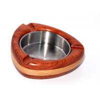 Wholesale Bi-wood Shield shape wood Ashtray with steel plate from china suppliers