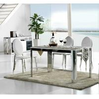 Wholesale luxury dining set, dining table, glass table, dining chairs, #6004 from china suppliers