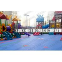 Wholesale Colorful Polypropylene Interlocking Sports Flooring , Blue Plastic Playground Flooring from china suppliers