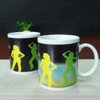 Wholesale Matching couple mugs heat sensitive color changing mugs 300ml from china suppliers