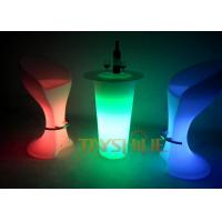 Wholesale Illuminated Ice Bucket LED Pub Table Outdoor Furniture For Garden And Restaurant from china suppliers