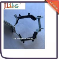 Quality Iron Sheet Hanging Pipe Clamps , Pipe Fastener Bracket For R588 Suporte Metalico for sale