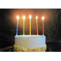 Wholesale Star Printed Personalized Birthday Candles Red Blue Yellow Green Orange Pillar Candles from china suppliers