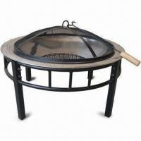 Buy cheap Fire Pit, Measures 76 x 76 x 48cm, with 61cm Cooking Area from wholesalers