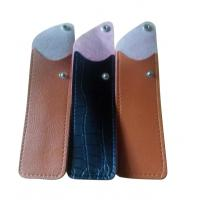 Wholesale classical imitation leather  optical pouches for men with clip from china suppliers