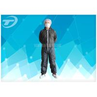 Wholesale S To 5XL Disposable Coverall Suit / Disposable Hooded Coveralls PE Coated For Men from china suppliers