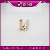 Quality 15ml 17mm diameter metalized rose gold glass bottle with real gold ball and aluminum cap. for sale