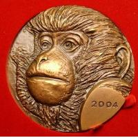 Wholesale bronze relief monkey coin sculpture from china suppliers