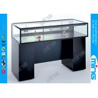 Wholesale Retail Store Jewelry Glass Display Showcases with Wooden Sit Down from china suppliers