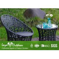 Quality Small Pool Patio Furniture With PE Rattan Wicker Table Chairs Anti - Aging Feature for sale