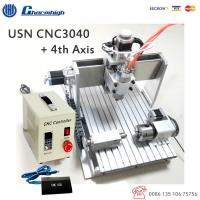 Wholesale USB Controller 4 Axis CNC 3040 Router / Mini Desktop CNC Router 4th Axis from china suppliers