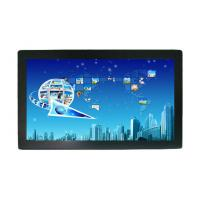 Quality Wall Mounting HD 24 Inch Industrial Touch Screen Monitor Dual Real Touch for sale