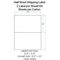"Wholesale Half Sheet Mailing Label,Internet Postage 8-1/2""x5-1/2"" 2 Labels per Sheet from china suppliers"