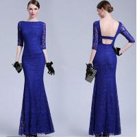 Wholesale Latest Dress Designs Formal Royal Blue Bodycon Evening Dress 50s Vintage Dresses from china suppliers