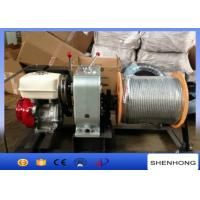 Wholesale HONDA Gas Engine Wire Rope Capstan Hoist / Cable Pulling Winch For Line Construction from china suppliers