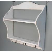 Wholesale Wooden wedding decoration Multi-function Storage Rack shelf Wood Sundries Holder with hook wall sticker from china suppliers