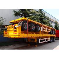 Wholesale 2 Axle Heavy Duty Truck Flatbed Transport Container Semi Trailer from china suppliers