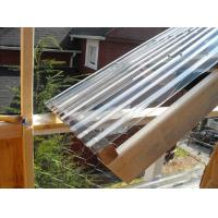 China Clear Lexan Corrugated Polycarbonate Panels , Corrugated Skylight Panels on sale