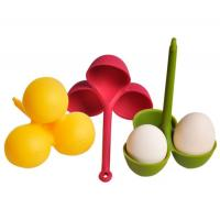 Wholesale Eco-friendly Silicone 3 Egg Boiler Poacher Holder With Handle from china suppliers