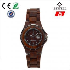 Wholesale Cool Wood Wrist Watch , Japan Miyita Movement Wooden Wristwatch from china suppliers