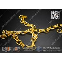Quality Golden Color Aluminum Chain for Fly Screen Curtain | HeslyMesh Factory for sale