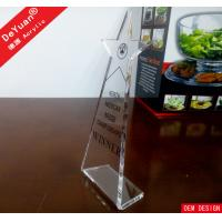Wholesale Blank Trophy Clear Acrylic Trophies And Awards With Silk Printing from china suppliers