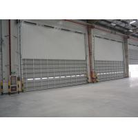 Wholesale High durable motor operating Aluminum sectional doors No noise large width single panel from china suppliers