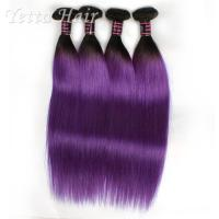 Wholesale Purple Russian Remy Hair Extensions , Natural Silky Straight Hair Weave With Soft from china suppliers