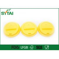 Wholesale 80mm Diameter Plastic Yellow Disposable Drinking Cups Lids for Paper Cups from china suppliers