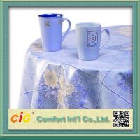 Wholesale Flower Design Printing PVC Dining Table Cloth For Household Blue from china suppliers