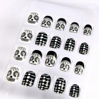 Wholesale Healthy panda Kids Amazing Fake Nails , Childern Cute Printing Fake Nails from china suppliers