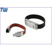 Wholesale Solid Leather Bracelet 4GB USB Memory Drive Personalized Branding from china suppliers