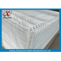 Wholesale 1800*2000mm 3D Wire Mesh Fence , White PVC Coated Mesh Fence from china suppliers